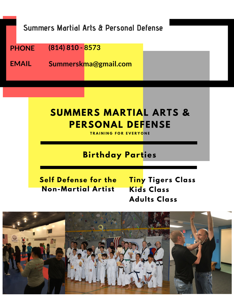 home of traditional martial arts, birthday parties, none martial arts defense, family, fun and fellowship