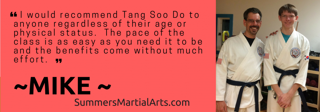 Mikes testimonial, health, confidence, less stress, bellefonte, adults class, summers martial arts